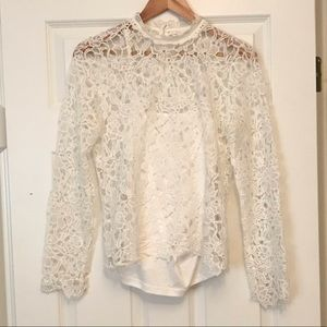 White lace top w/camisole